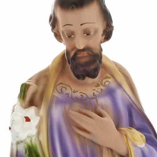 Statua Sacra Famiglia 40 cm gesso s3