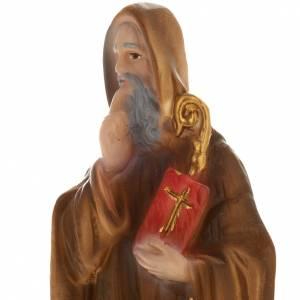 Statua San Benedetto gesso 20 cm s2