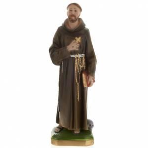 Statua San Francesco d'Assisi 40 cm gesso s1