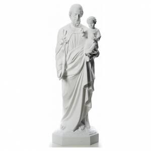 Statue in Vetroresina: Statua San Giuseppe 160 cm vetroresina bianca