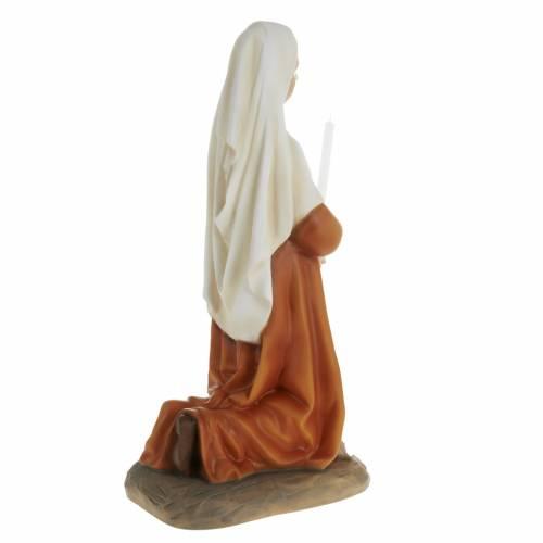 Statua Santa Bernadette 63 cm polvere di marmo dipinta s6