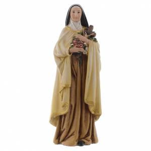Statue in legno dipinto: Statua Santa Teresa pasta legno colorata 15 cm