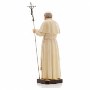 Statue bois Jean Paul II peinte s3