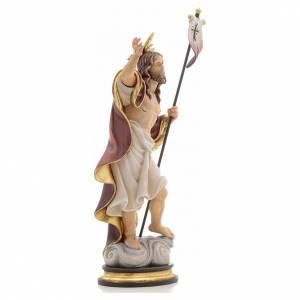 Statue bois Résurrection peinte s4
