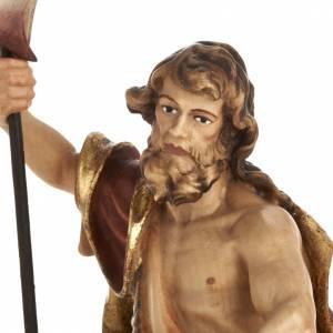 Statue bois St Jean Baptiste peinte s2