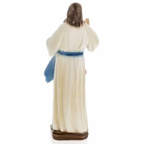 Statue Divine Miséricorde plâtre prlé 30cm s5