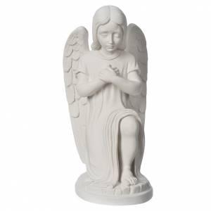 Statue extérieur Ange gauche marbre s1