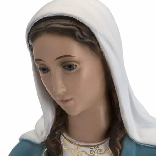 Statue Immaculée 60 cm fibre de verre yeux cristal Landi s8