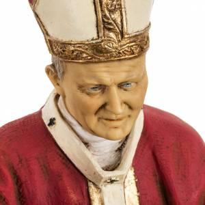 Statuen aus Harz und PVC: Statue Johannes Paul II rote Kleidung 50cm, Fontanini.