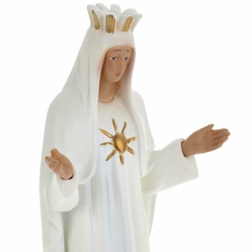 Statue Notre-Dame de Beauraing plâtre 30 cm s2