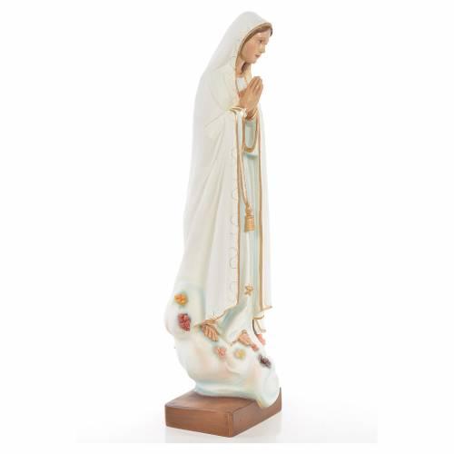 Statue Notre Dame de Fatima marbre reconstitué 60cm peinte s4