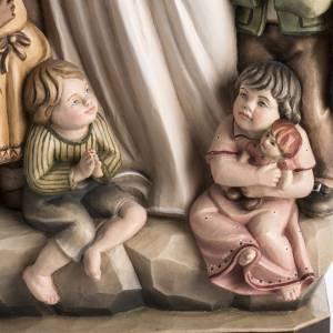 Statue Notre Dame de la Protection peinte bois Val Gardena s4