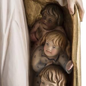 Statue Notre Dame de la Protection peinte bois Val Gardena s5