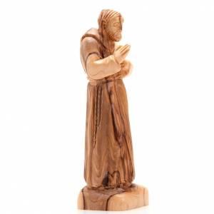 Statuen aus Naturholz: Pater Pio Olivenholz