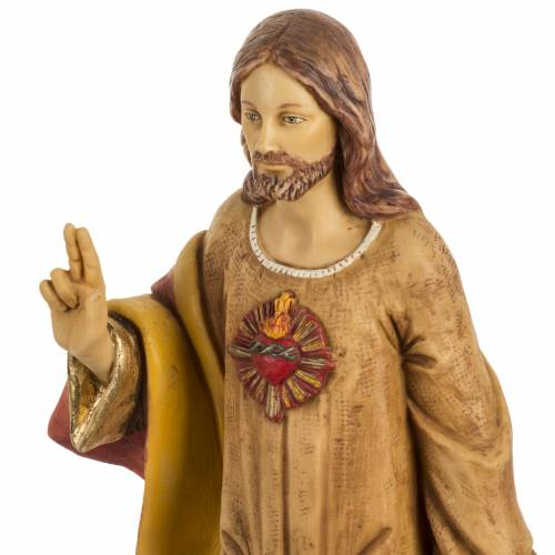 Statue Sacré coeur 50 cm résine Fontanini s2