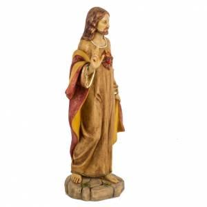 Statue Sacré coeur 50 cm résine Fontanini s5