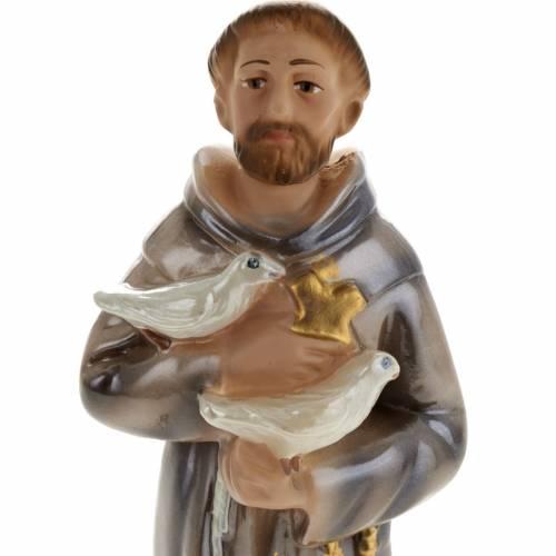 Statue Saint François de Assisi plâtre 20 cm s2