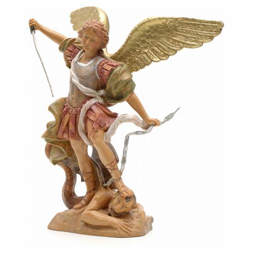 Statue Saint Michel 18 cm Fontanini s2