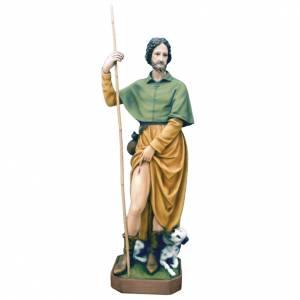 Statue Saint Roch fibre de verre peinte 100cm s1