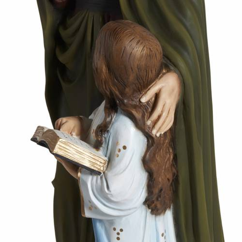 Statue Sainte Anne marbre 80cm peinte 6