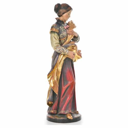 Statue Sainte Notburga bois Valgardena Old Gold s4