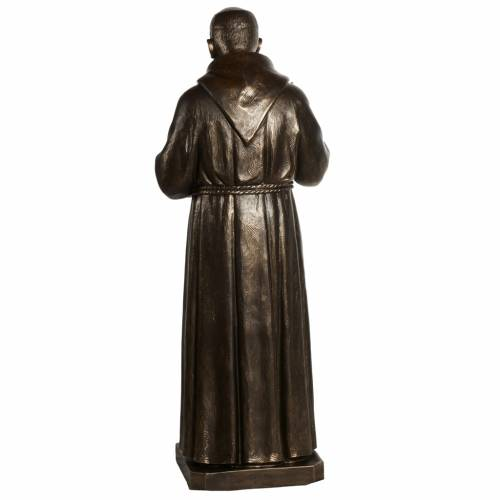 Statue San Pio fibre de verre patinée bronze 175 cm s13
