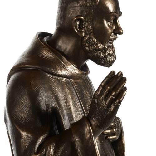 Statue San Pio fibre de verre patinée bronze 175 cm s6