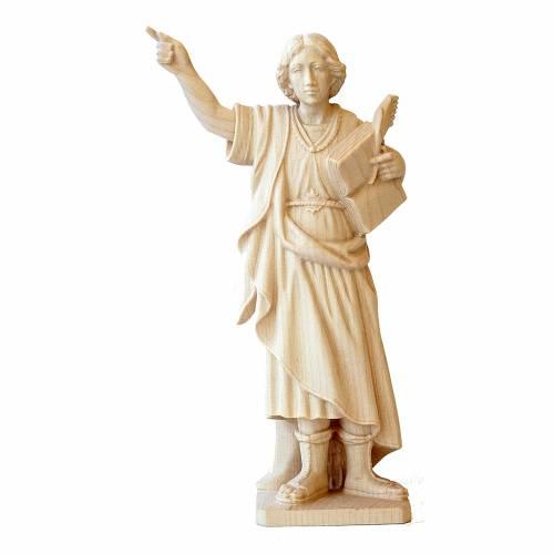 Statue St. Pancras natural wood Val Gardena s1