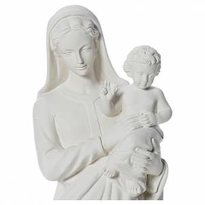 Statue Vierge à l'enfant poudre de marbre 100 cm s5