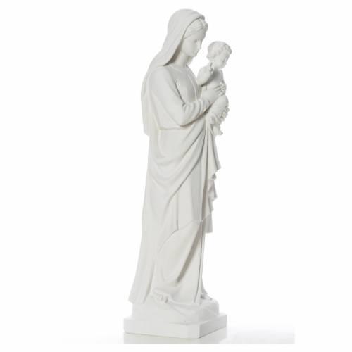Statue Vierge à l'enfant poudre de marbre 100 cm s2