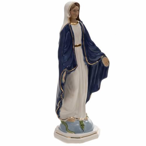 Statue Vierge Miraculeuse 18,5 cm céramique s2