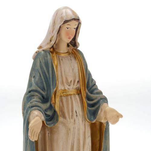 Statue Vierge Miraculeuse résine colorée 20 cm s2