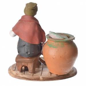 Decoratore piatti terracotta presepe 18 cm s3
