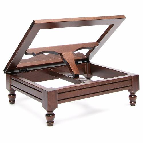 STOCK Book stand in dark wood s3
