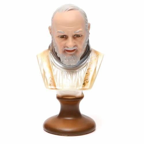 STOCK Buste Saint Pio plâtre 14 cm s1
