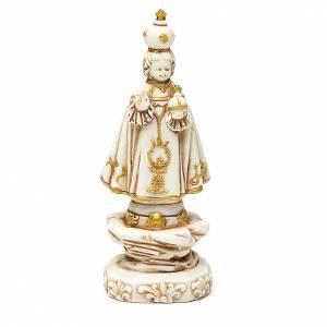 Statues en plâtre: STOCK Enfant Jésus de Prague 12 cm plâtre ivoire