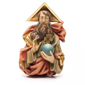 Hand painted wooden statues: STOCK Heavenly Father in painted wood 15 cm