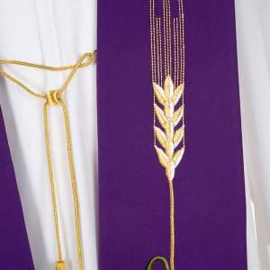 Stola liturgica IHS spiga ostia uva s7