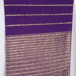 Stola liturgica pura lana strisce dorate s6