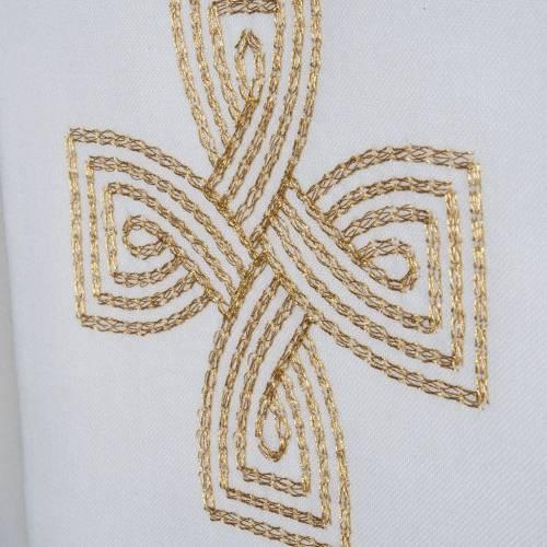 Stola mit goldenem Kreuz und Geflecht s3