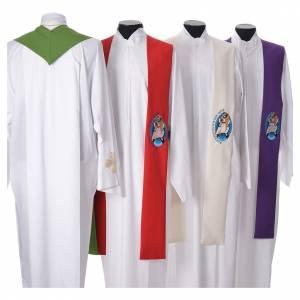 Priesterstolen: STOCK Stolo Jubilaeum der Barmherzigkeit DEUTSCH mit Stickerei aus Polyester