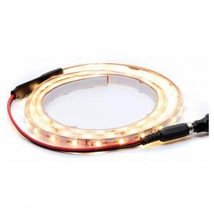 Striscia Led bianco caldo 1 m 30 led con connettore s1