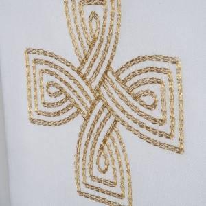 Stuła krzyż złoty pleciony s3