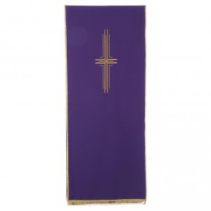 Stylized cross pulpit cover, polyester s5