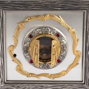 Tabernacolo IHS ottone, immagine bronzo s3