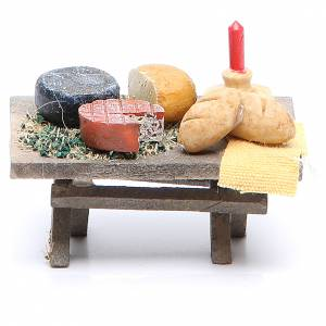 Table full of food 7x4x3.5cm assorted models s2