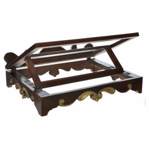 Table lectern in wood, 1700 style 40x30 cm s3