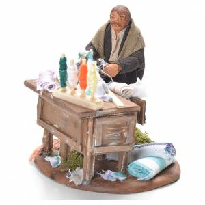 Tailor with stall, Neapolitan Nativity 10cm s2