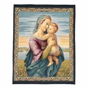 Tapisseries religieuses: Tapisserie La Vierge Tempi de Raphaël 65x50 cm