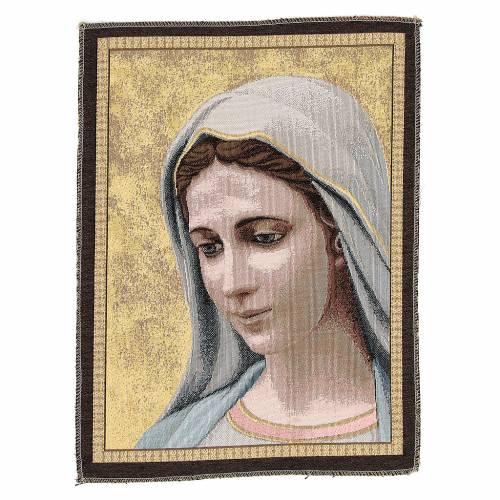 Tapiz Virgen de Medjugorje 30 x 45 cm s1